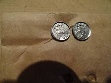 "Pair New Old Stock Original Colt ""Rearing Horse"" Pistol Grip Inserts ""Nickel?"""