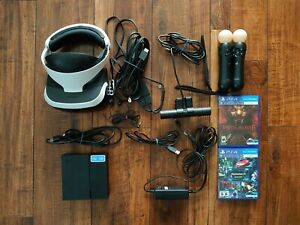 Sony PlayStation VR PSVR Bundle CUH-ZVR1 Headset / Camera / Move / Games
