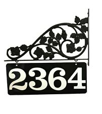 Reflective Mailbox Address Sign Double Sided Scroll Mount to Post or Pole NEW