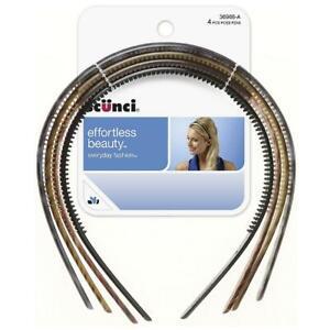 Scunci Effortless Beauty Thin Plastic Headbands 4 ea