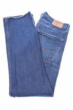 Hollister Da Uomo Jeans W36 L32 Blu Navy Cotone Dritto