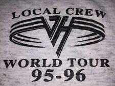 Van Halen 1995-96 Rare Vintage Local Crew World Tour Xl Tshirt Fits like a Large