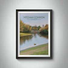 More details for mitcham common london travel poster - framed - vintage - bucket list prints