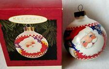 1995 Hallmark Glass Ball Keepsake Ornament Mary Engelbreit Santa Claus, New