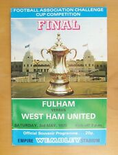 1975 FA Cup Final FULHAM v WEST HAM UNITED *VG Condition Football Programme*