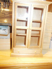 NICE MODERN LIGHT WOOD DISPLAY CABINET FOR A DOLLS HOUSE