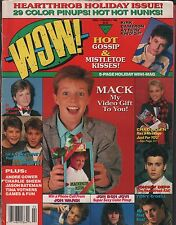 WOW magazine Vol.1 No. 5 February 1988 Kirk Cameron, Michael J. Fox GD 112415DBE