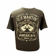 5d01b99a0 Official Martin Guitars Black Dual Guitar Tee T- Shirt Large 18C0000L