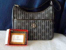 Giani Bernini NEW Stripe Signature Hobo Tote w/ Small Leather Wallet