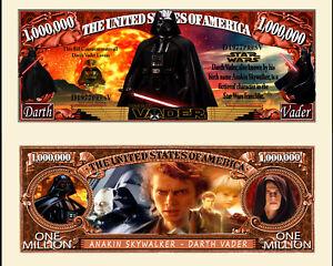 STAR WARS DARK VADOR BILLET MILLION DOLLAR US! Collection Darth Vader Force Sith