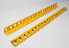 2 x Meccano Angle Girder 19 Holes in Crane Set yellow (8a)