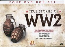 True Stories  WW2 Battle Britain Dambusters Cockleshell Heroes Great Escape 4DVD