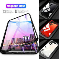 For Samsung Note 10+ S10 5G Magnetic Adsorption Metal Tempered Glass Case Cover