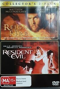 REIGN OF FIRE / RESIDENT EVIL DVD (PAL, 2 DISC SET) Free post
