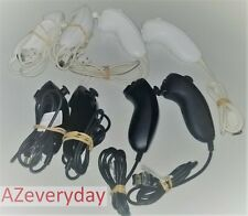 Nintendo Wii NUNCHUCK Bundle 1 2 3 4 lot/set U Nunchuk_Official_OEM__White/Black