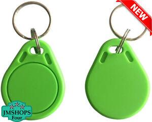 RFID Key fob 13.56MHZ,MIFARE Classic® 1K Tag Door Access Entry - 10pcs (Black)