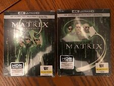 The Matrix Reloaded (DVD, 2018, SteelBook Digital Copy 4K Ultra HD Blu-ray/Blu-ray Only )
