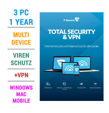 F-Secure TOTAL Security inkl. VPN 2019 3 PC Geräte 1 JAHR WIN MAC Android