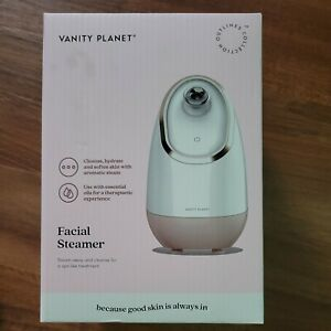 NEW VANITY PLANET FACIAL STEAMER Cleanse Hydrate Softens Skin Spa Treatment