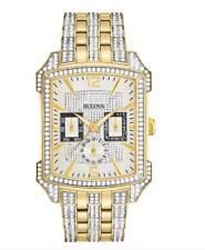 $695 Bulova Men's Watch Crystals Collection 98C109