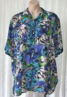 VERONICA LODGE (AUS)   WOMEN`S SIZE 12 LOOSE FITTING  FLORAL SHIRT