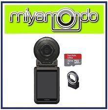 Casio Exilim FR100 Action Camera + Sandisk Ultra MicroSD 32GB + EAM-7 (Black)
