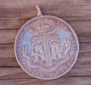 1837-1901 QUEEN VICTORIA  MEMORIAL ARMY TEMPERANCE ASS EMPRESS OF INDIA MEDAL