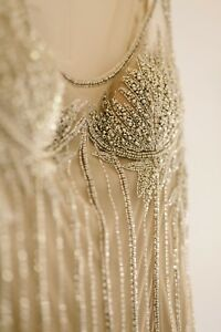Vintage Bob Mackie Gown Womans Nude fabric, beautiful intricate beading