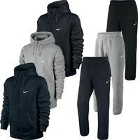Nike Mens Full Fleece Tracksuit Hoodie Joggers Zip Hoody Jogging Bottoms Black
