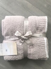 Barefoot Dreams CozyChic Throw Blanket In Stone-White