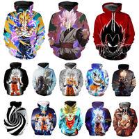 3D Dragon Ball Z Super Saiyan Goku Mens Women Hoodie Sweatshirt Jumper Pullover
