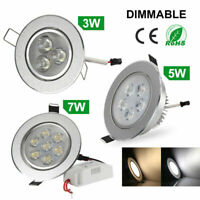 4Pcs 3W 5W 7W LED Ceiling Downlight Recessed Dimmable Spotlight Lamp 3000-6500K