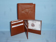 TORONTO BLUE JAYS   Leather BiFold Wallet    NEW    brown 4 +