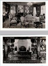 2 RPPC Postcards  QUEBEC, CANADA  Interior Views SEIGNIORY CLUB Lounges