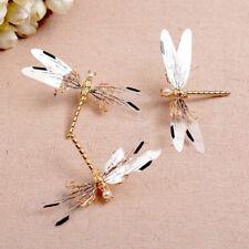 Metal Dragonfly Hair Clip Pearl Bridal Headdress Gold Hairpins Wedding Jewelry