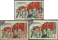Sowjet-Union 1491-1493 (kompl.Ausg.) gestempelt 1950 Demokratie und Sozialismus