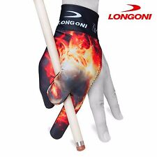 LONGONI Billiard POOL CUE GLOVE Fancy Skull 2 for Left hand + FREE SHIPPING!