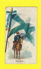 MILITARY - R. & J. HILL - VERY RARE FLAGS / SOLDIERS CARD - RUSSIA - 1901