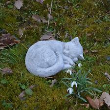 massif sculpture en pierre chat chaton décoration de jardin d'espace ciment