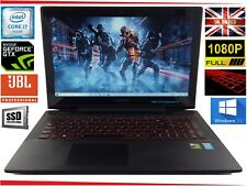 """15.6"""" Lenovo Y50 Gaming Laptop Core i7 up to 3.5GHz 16GB 256GB SSD Win10 GTX JBL"""