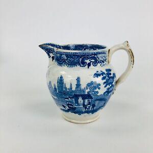 A c.1820-30. Davenport pearlware jug. Printed transfer scene. Ex Meecham