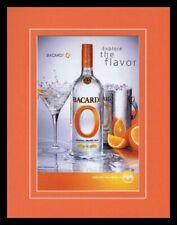 2006 Bacardi O Orange Vodka 11x14 Framed ORIGINAL Vintage Advertisement