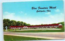 Blue Fountain Motel US Route 35 State Route 7 Gallipolis Ohio Postcard A81