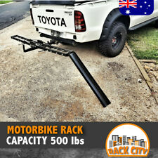 MOTORCYCLE MOTORBIKE RACK TOW BAR DIRT BIKE TRACK TRAILER CARRIER TRAIL