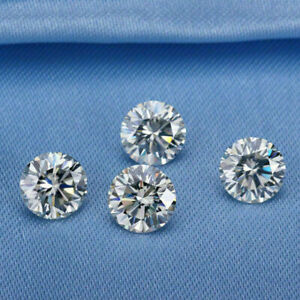 White Loose Moissanite Stone D Color Round Excellent Cut VVS1 with Certificate