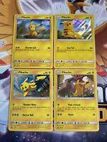 Pikachu - SM234 SM81 SM183 28/73 - Black Star Promo Card Lot 4x - Holo Rares