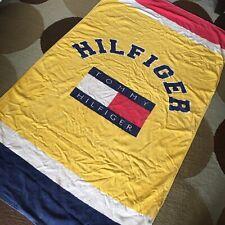 Vintage 90's Tommy Hilfiger Classic Flag Logo Beach Towel