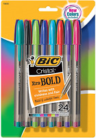 Cristal Xtra Bold Fashion Ballpoint Pen Medium Point Assorted Colors and Ink