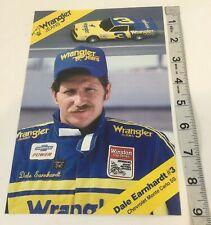 DALE EARNHARDT 1985 CARD #3 WRANGLER JEANS CHEVROLET HANDOUT MONTE CARLO 6 x 9