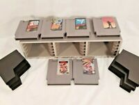 Nintendo NES game cartridges  Lot of 6 Vintage game case holder super mario bros
